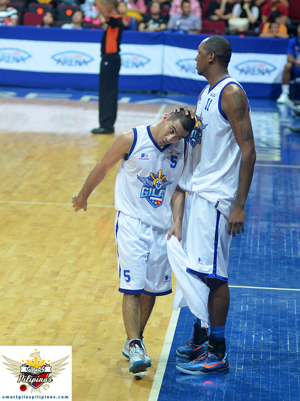 LA Tenorio and Marcus Douthit