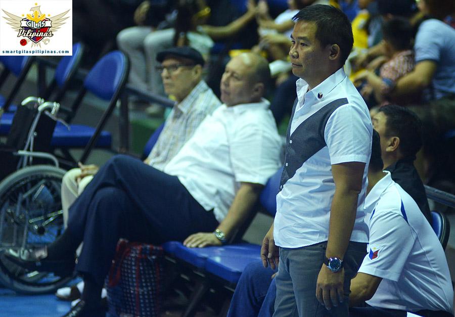 Coach Chot Reyes and Chito and Caloy Loyzaga